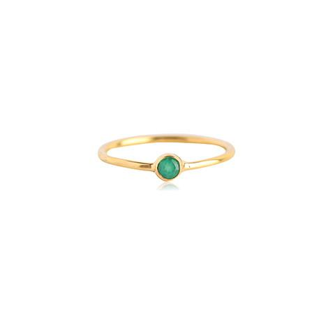 A teeny-tiny emerald is the perfect reminder of all the green you'll be making. - Leah Alexandra