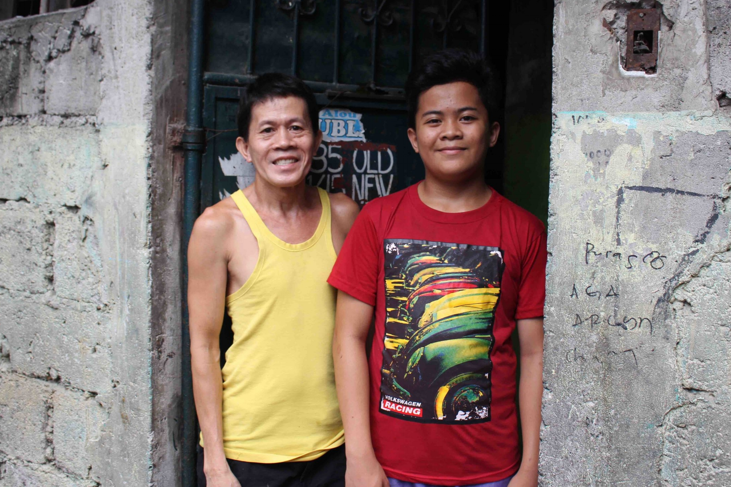 Jhobelle with his father, Sisenando