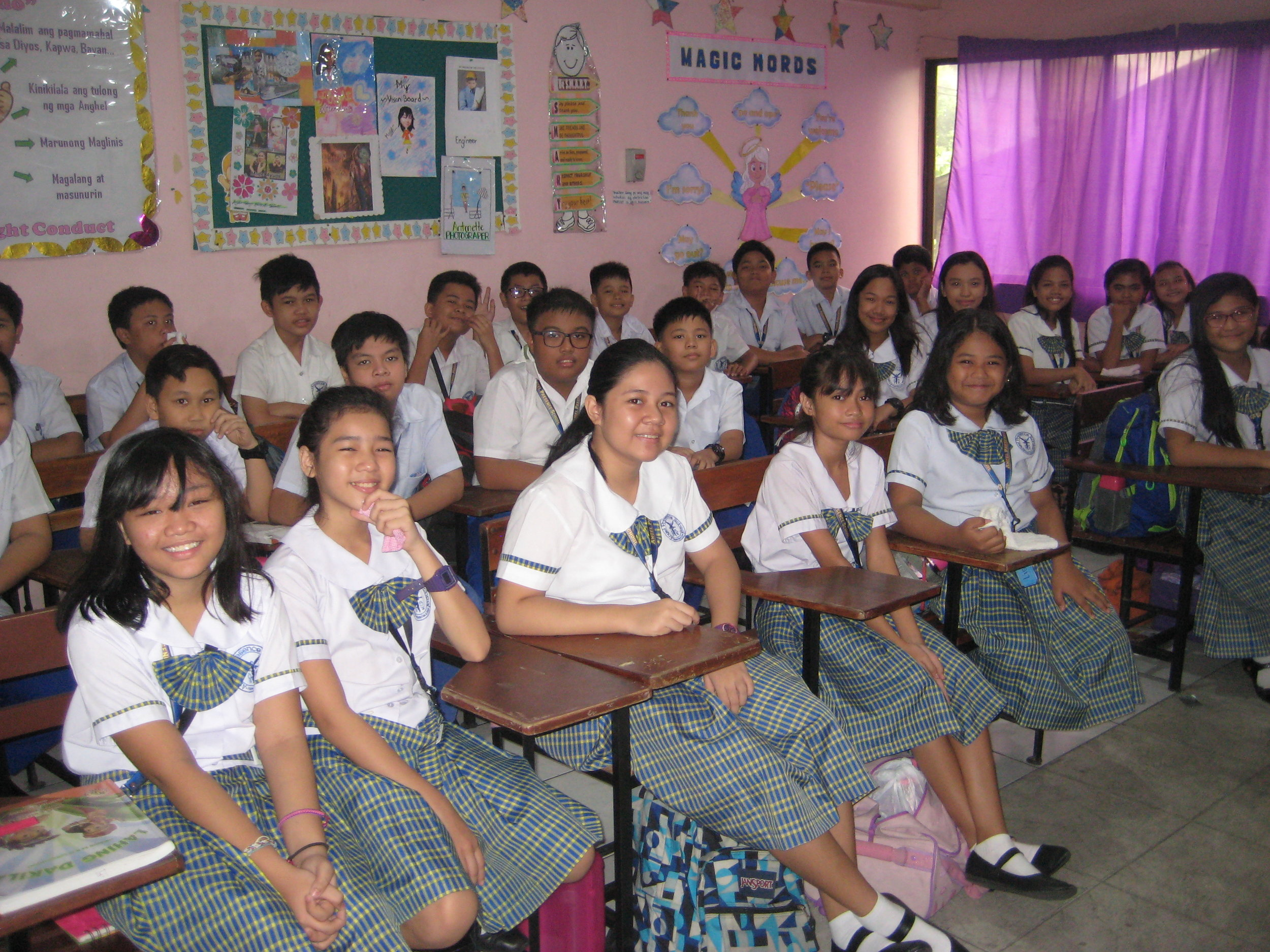 BBEF-supported students attend Angel Presence Foundation School, the local elementary school in Bagong Barrio.