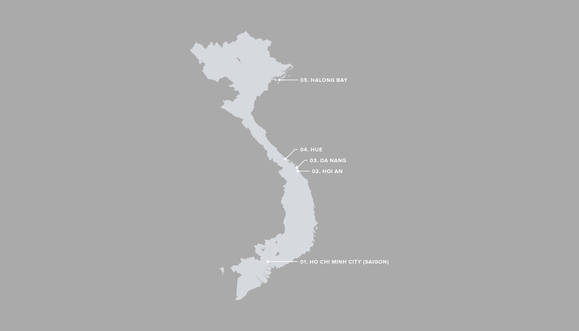 Illustrated map of Vietnam.