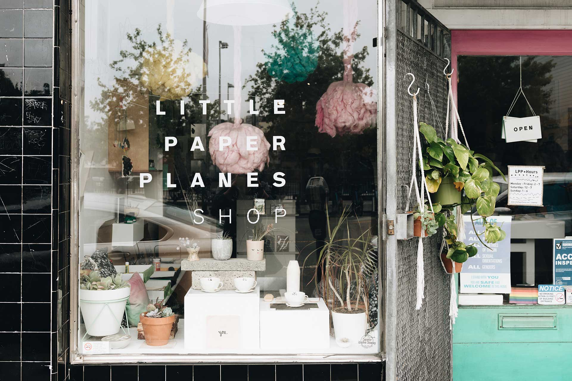 Little Paper Planes Shop in Mission District, San Francisco, California