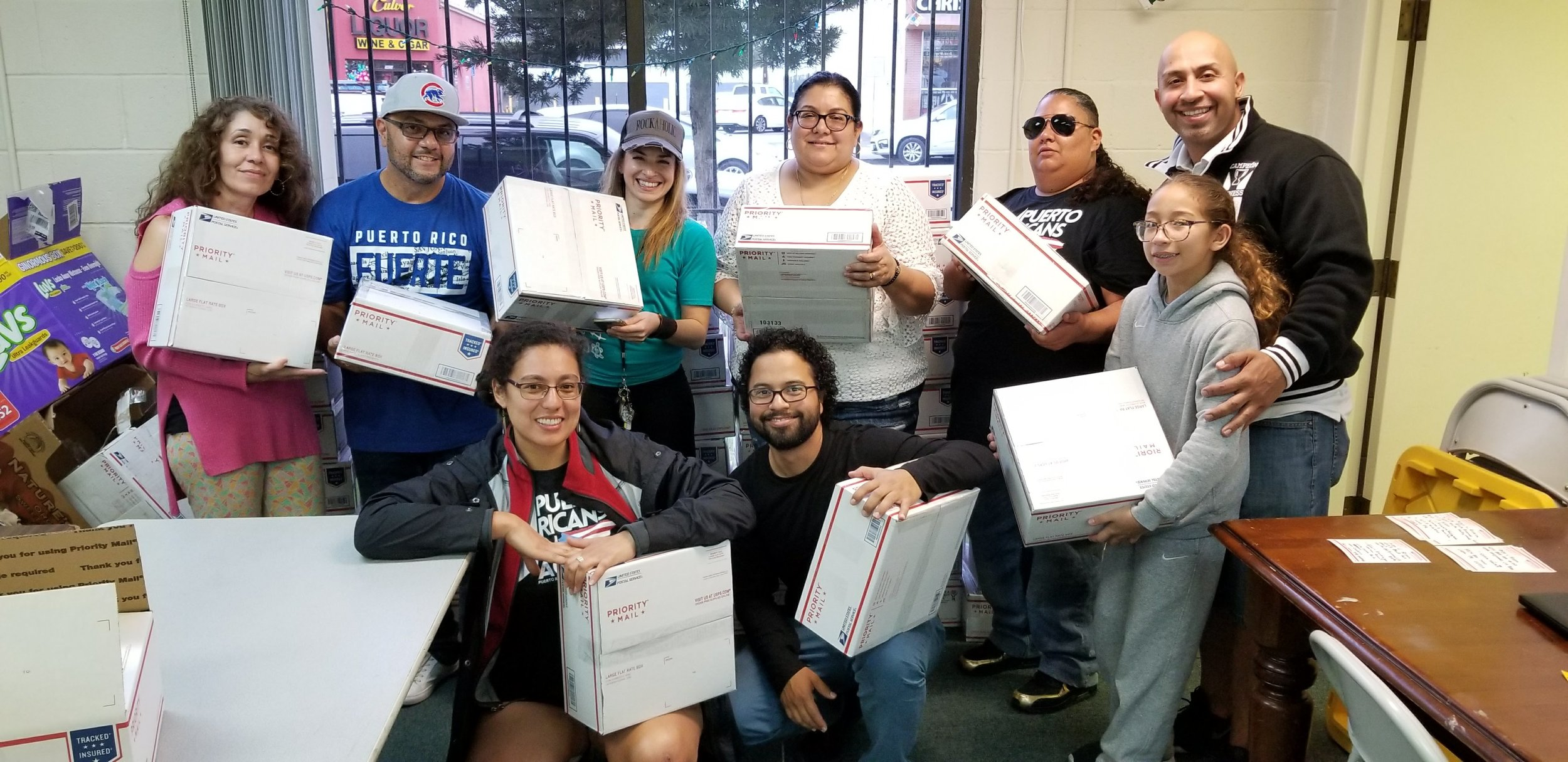 Care Package Drive - In Jan of 2018, PRiA called upon the community to help put packages together for Three Kings Day. Over 60 boxes were packed and filled with supplies that were later sent to the people in Puerto Rico.