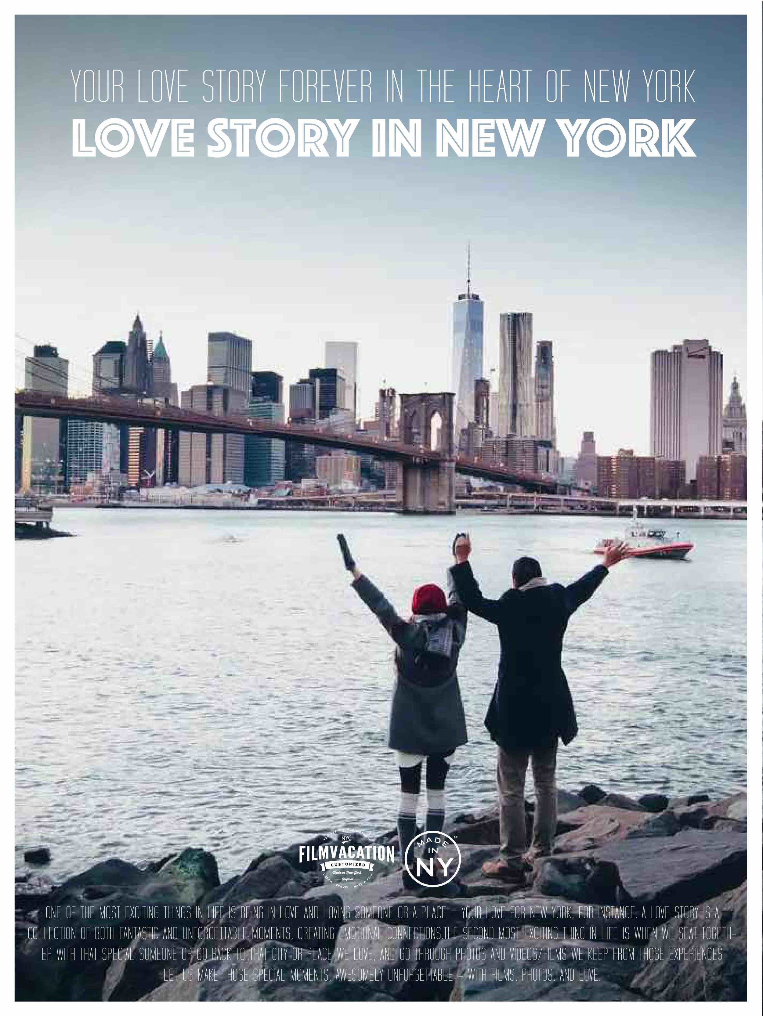 YOUR LOVE STORY IN NEW YORK - TAKE THE FIRST STEP TO HAVE YOUR LOVE STORY FILM IN NEW YORK CITY