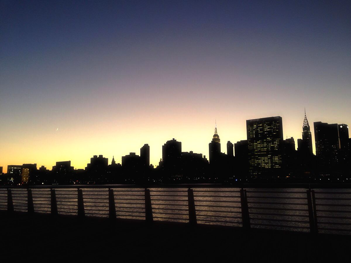 a magical sunset at long island city waterfront