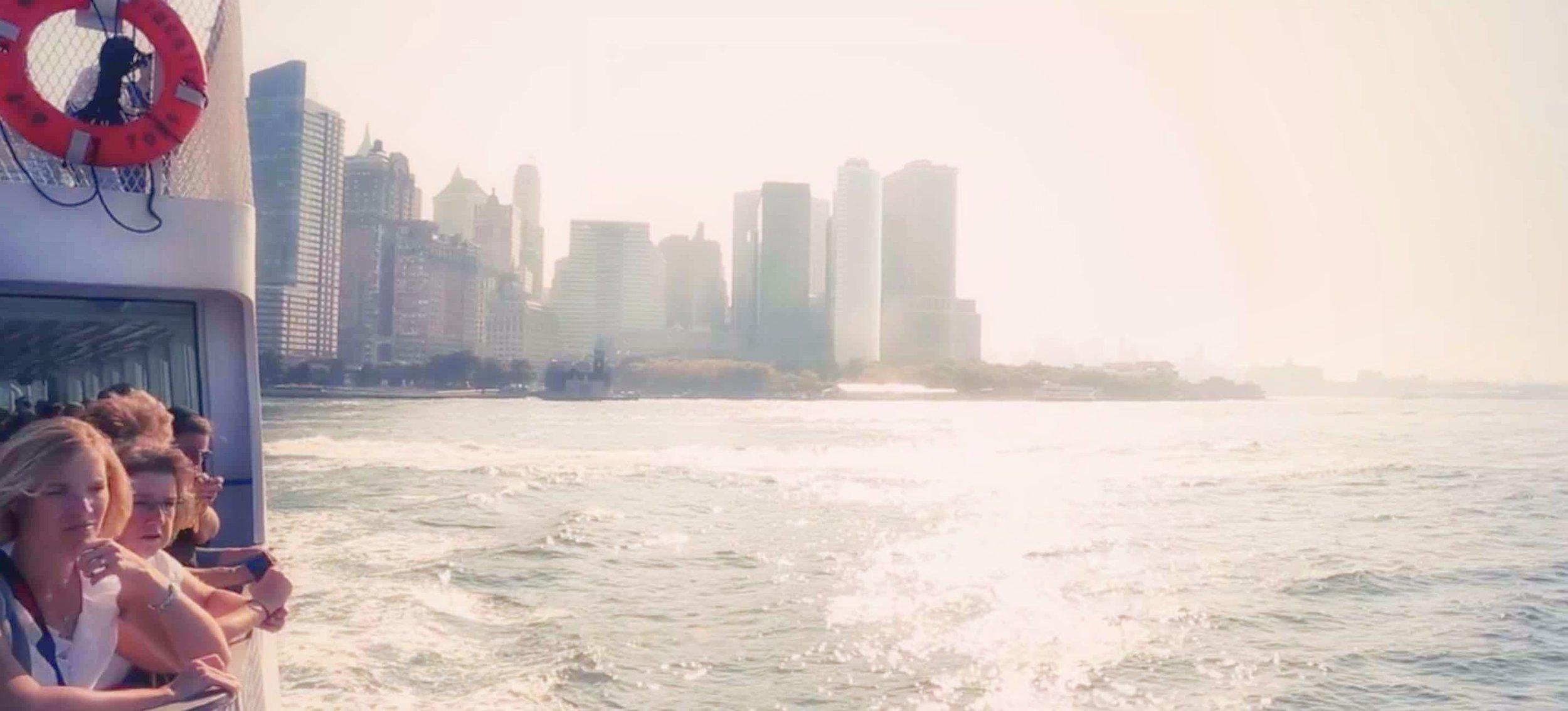 A minute in a Staten Island Ferry ride