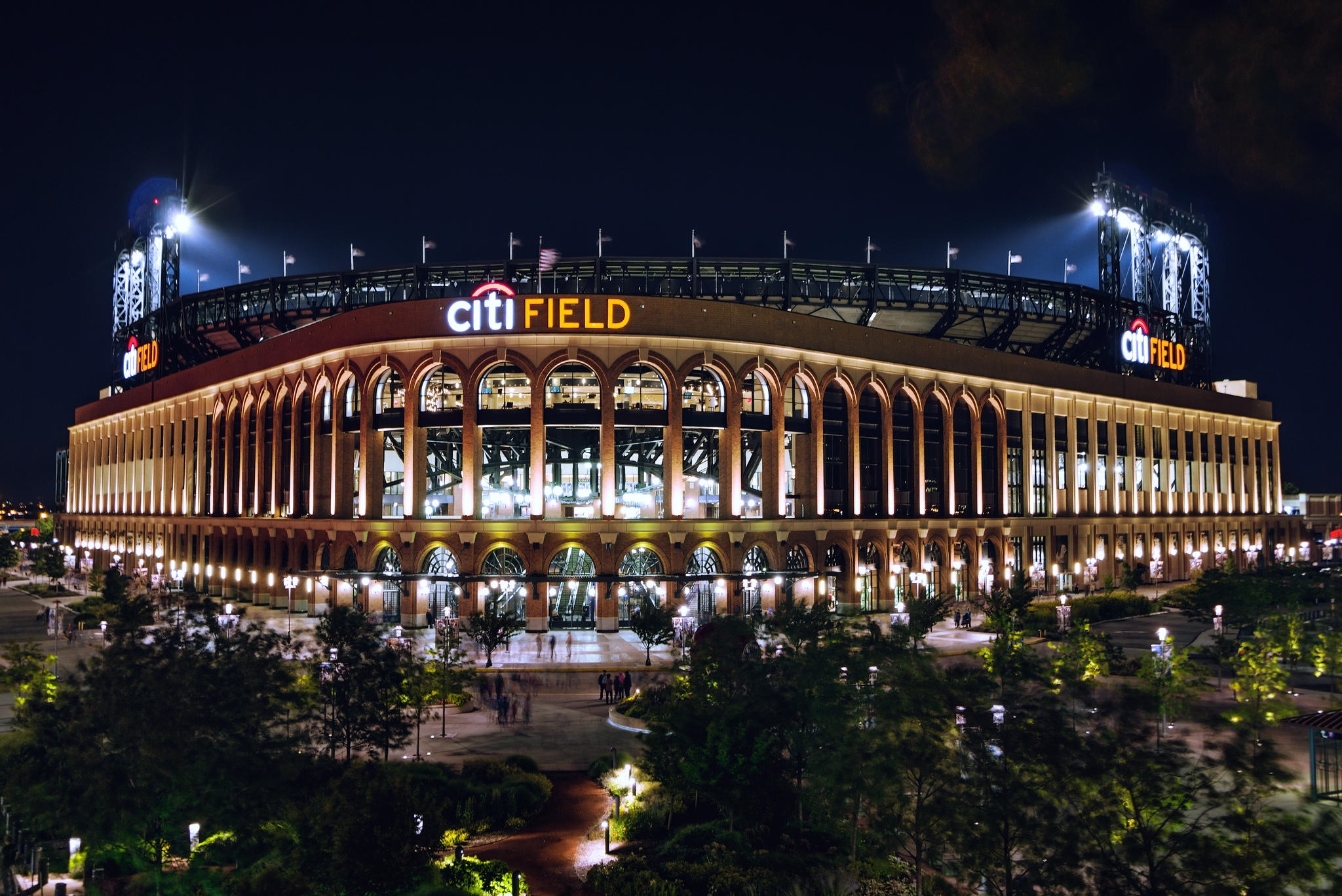 Citi Field is reachable via mass transit systems such as the New York City Subway 7 train at the Mets – Willets Pointstation, and the Long Island Rail Road station on the Port Washington Branch also called Mets – Willets Point. New York Water Taxi operates a free ferry to the stadium from Pier 11/Wall Street and the East 34th Street Ferry Landing before every game. image: courtesy citifield