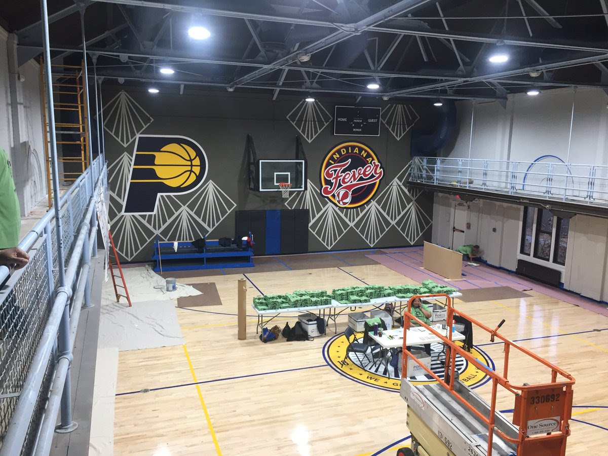 Brookside Park's newly renovated gymnasium