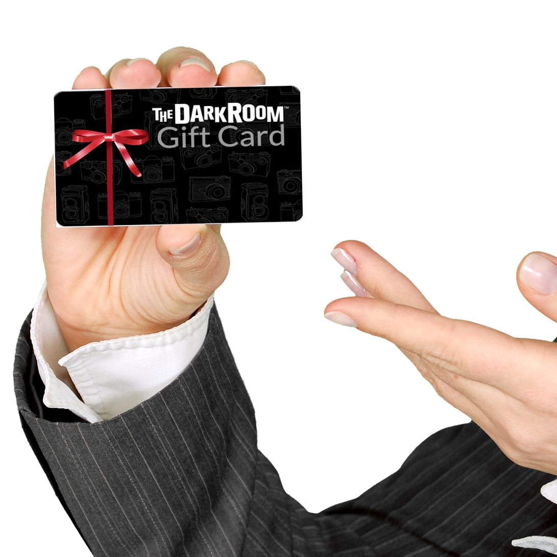 """""""The Darkroom"""" Gift Card:  give the gift of photo development.  What good are those pictures if you can't afford to develop them?"""