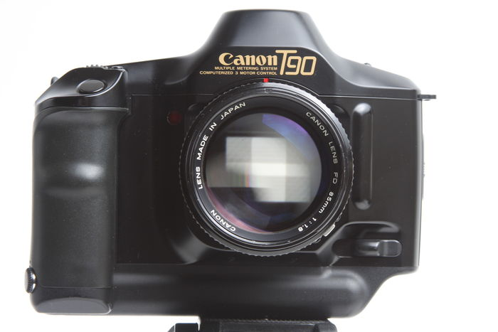 The Canon T90 was the last professional camera to sport the FD lens mount.