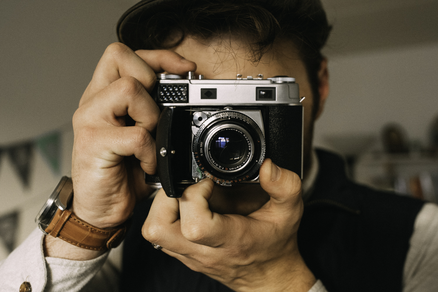 Remember to hold the camera carefully. Covering the light meter or the lens by accident could cause problems. It can be a little awkward at first, but then you'll get used to it.