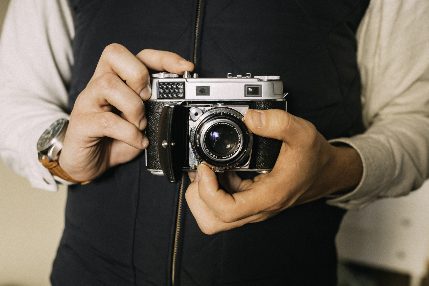 Here's how it looks in my hands. Absolutely one of my favorite cameras. So classic, so well made, and such a fabulous picture-taker.