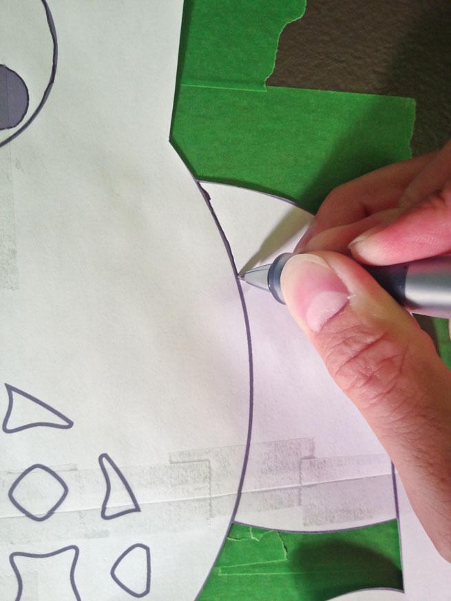 nursery mural step 7