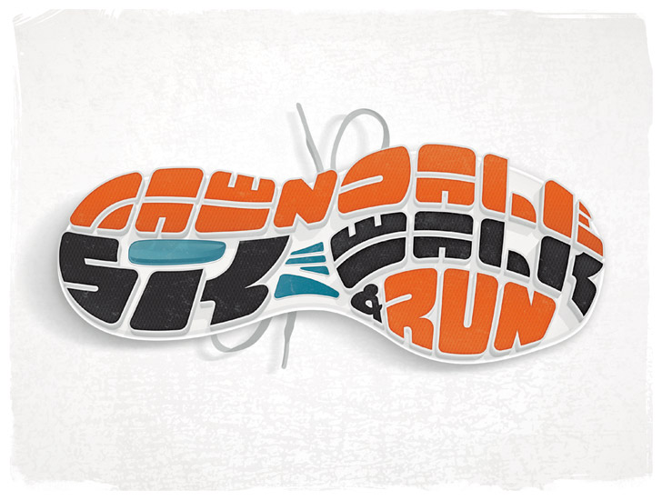 5K shoe illustration. Image copyright Jeff Miller, HellothisisJeff Design LLC