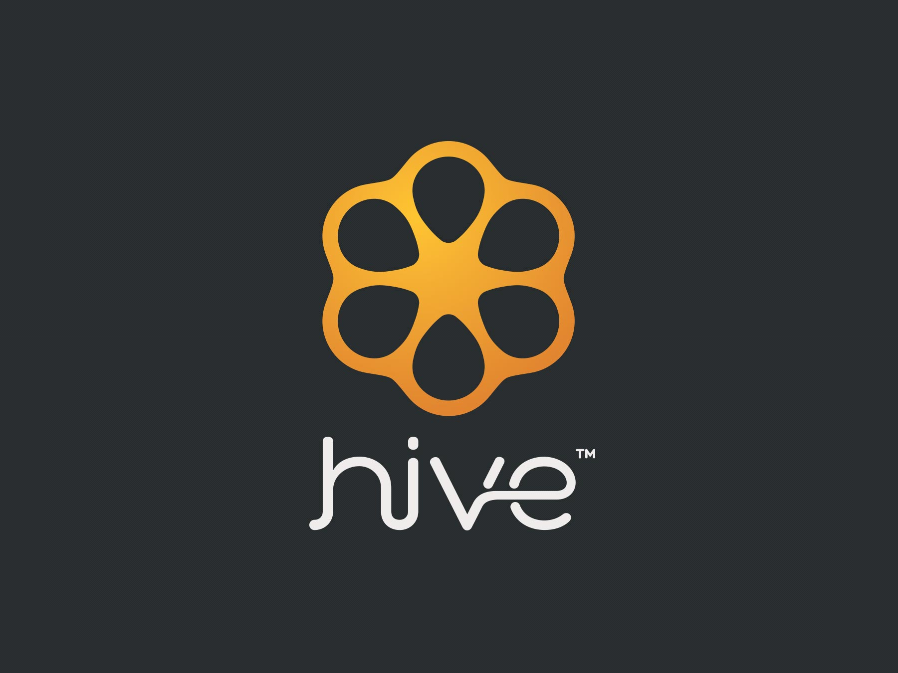 - In addition to the product itself, a concept was in the works to simultaneously create a customer resource site called Hive where Thrive users could search for and read up on church communications best practices. Playing off of the Thrive icon shape, I designed a fitting companion logo to brand the Hive website.