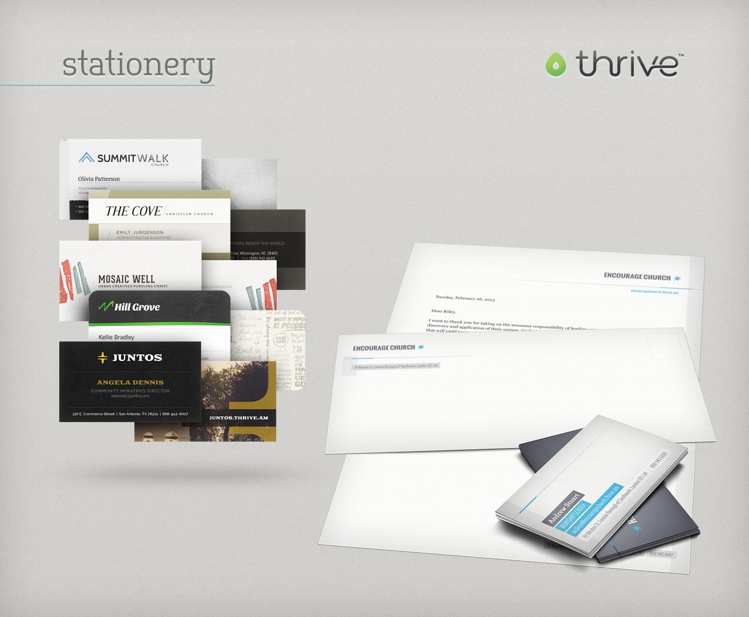 Thrive stationery themes