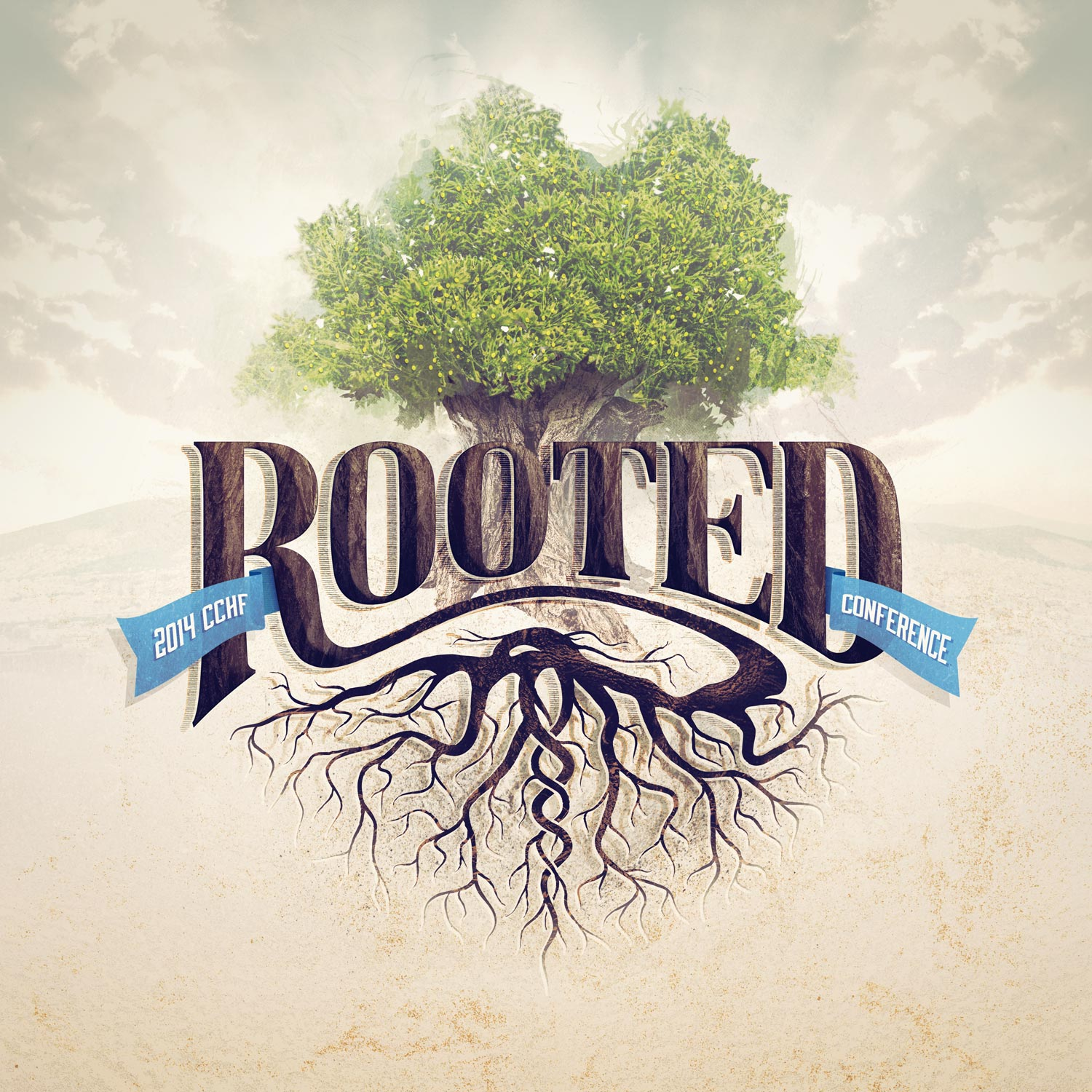 Rooted conference graphic. Image copyright Jeff Miller, HellothisisJeff Design LLC
