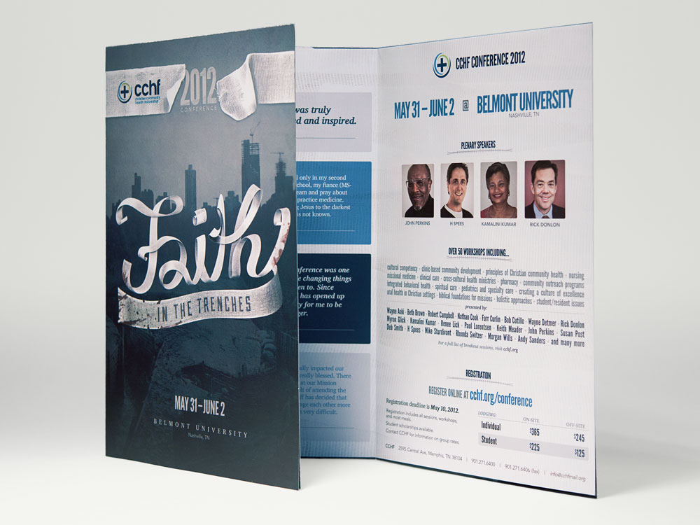 Faith tri-fold brochure interior