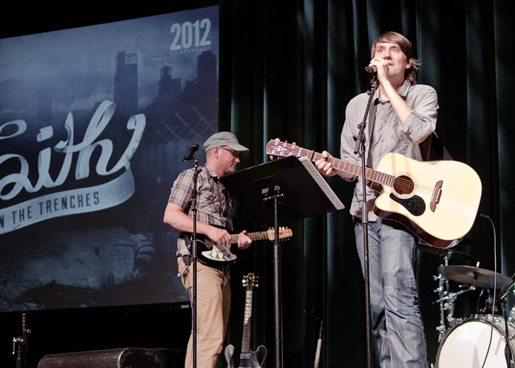 Matthew Smith performs at the 2012 CCHF conference