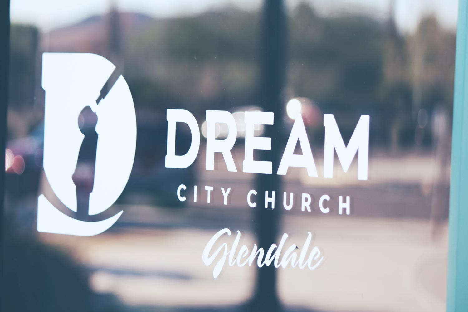 Dream City Church Glendale window decal