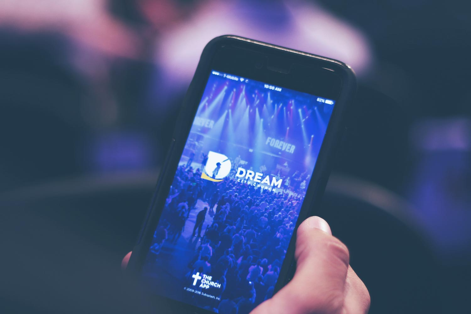 Dream City Church mobile app screen