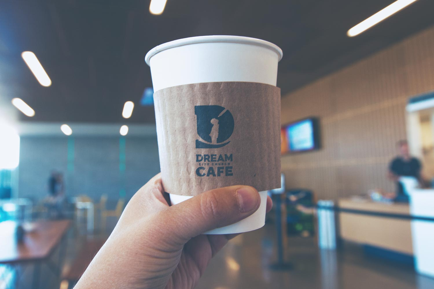 Dream City Church Cafe coffee cup