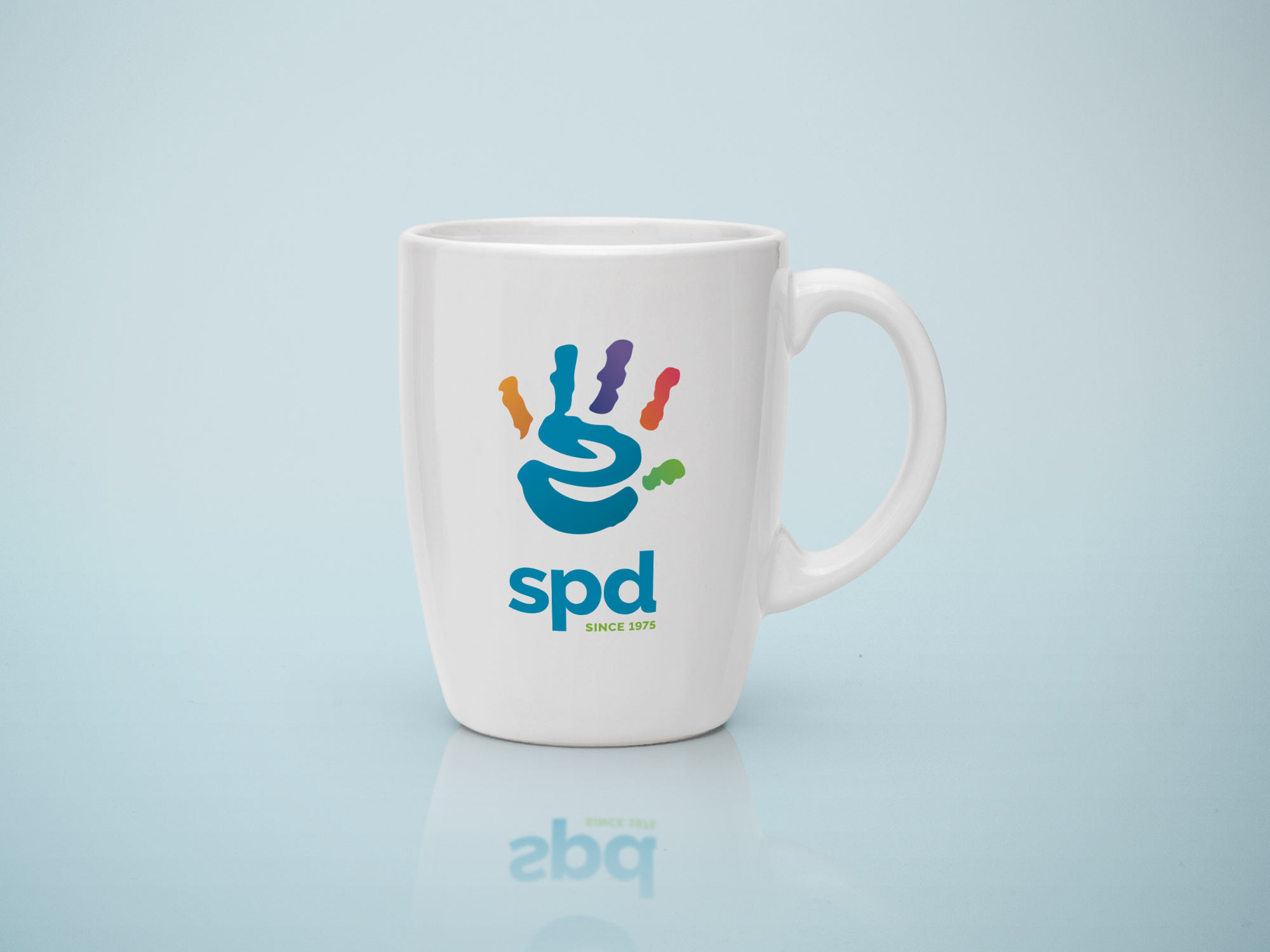 SPD logo on mug