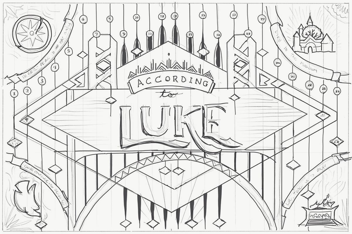 According to Luke original sketch. Image copyright Jeff Miller, HellothisisJeff Design LLC