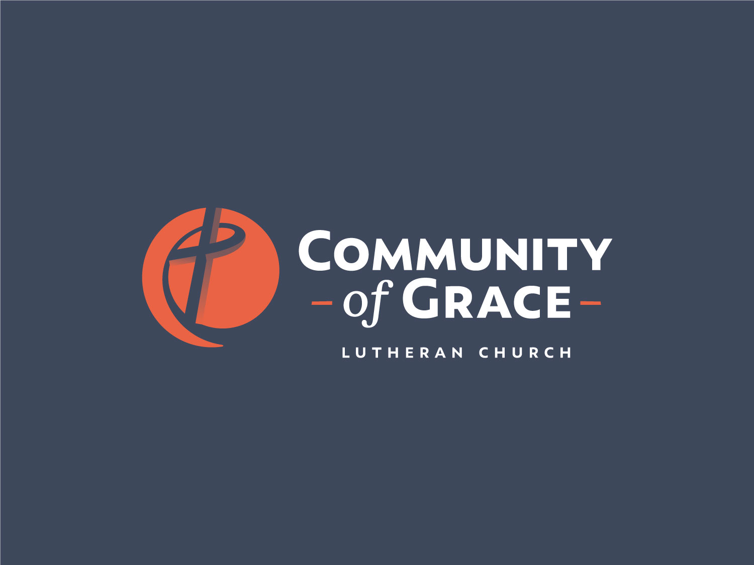 Community of Grace brandmark reversed