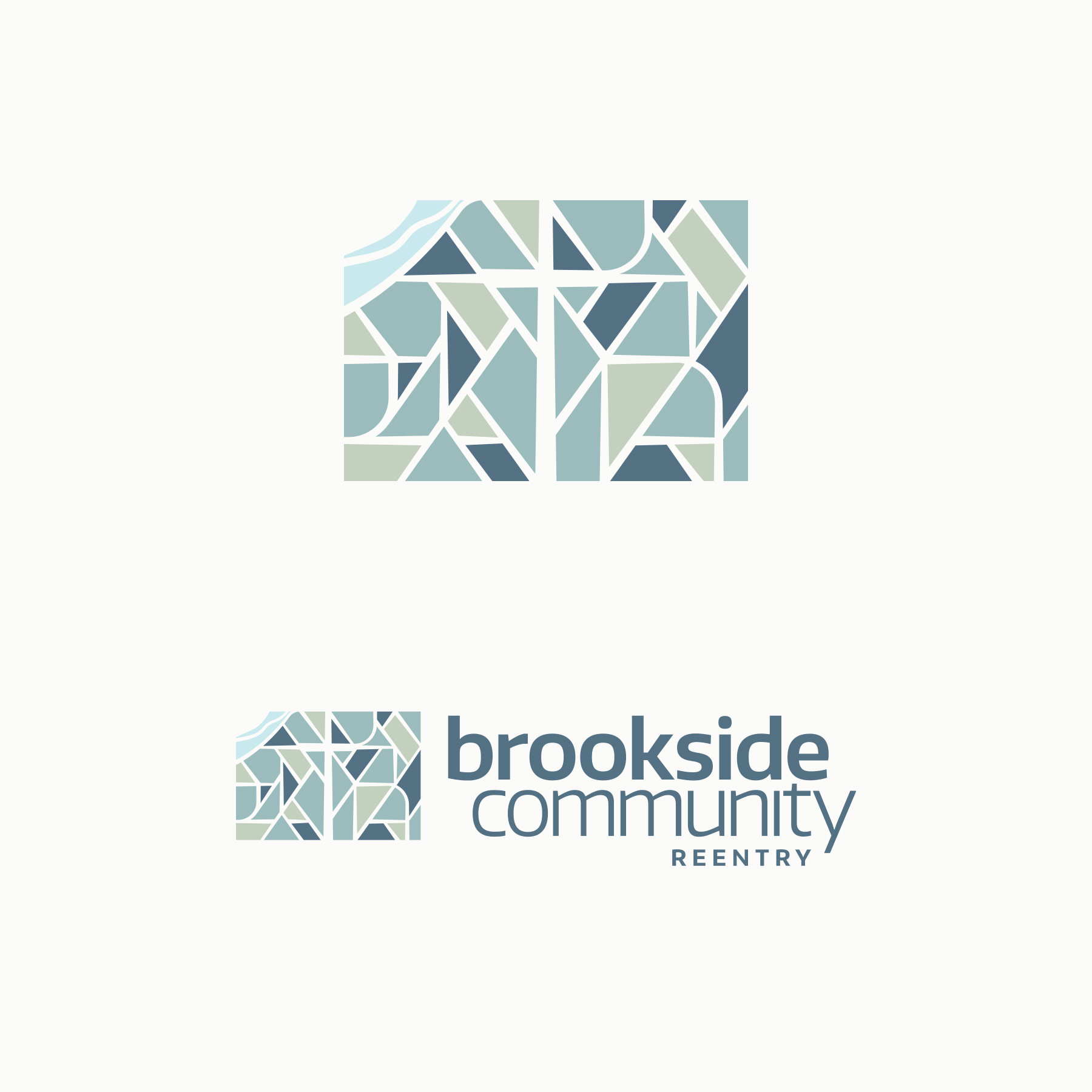 Brookside Community Reentry logo. Design by Jeff Miller, HellothisisJeff Design