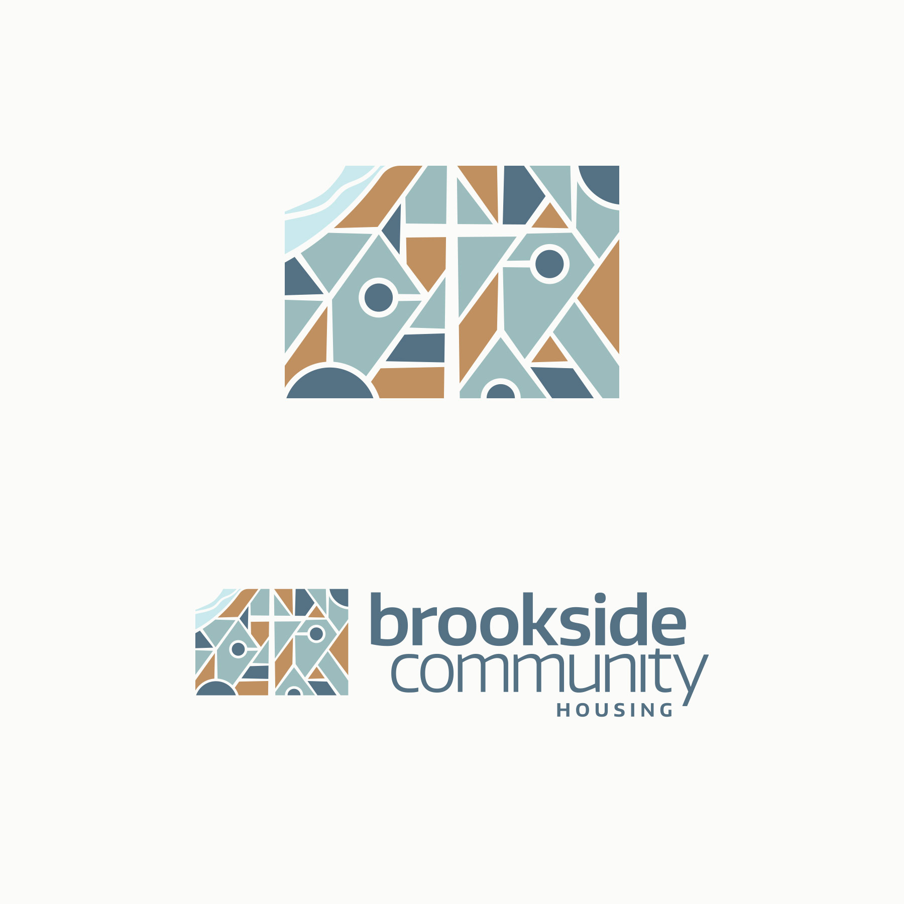 Brookside Community Housing logo. Design by Jeff Miller, HellothisisJeff Design