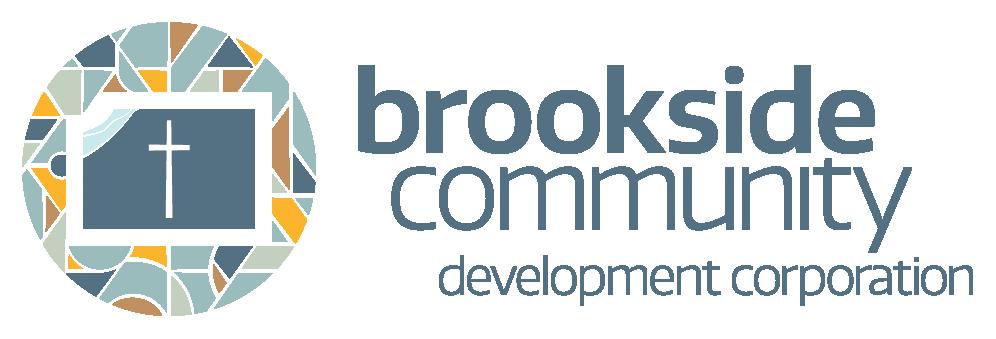 Brookside Community Development Corporation logo. Design by Jeff Miller, HellothisisJeff Design
