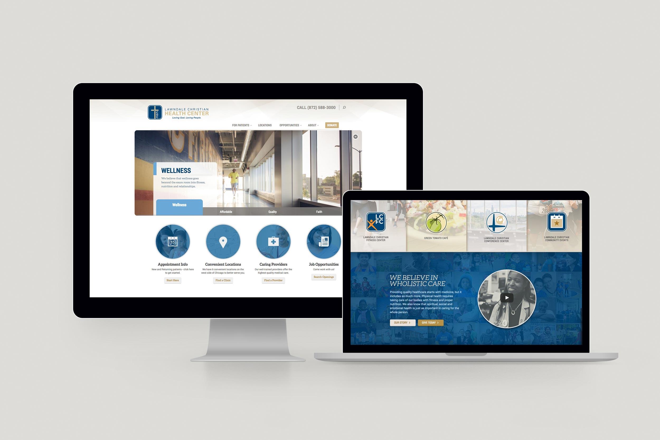 Lawndale Christian Health Center website. Design by Jeff Miller, HellothisisJeff Design
