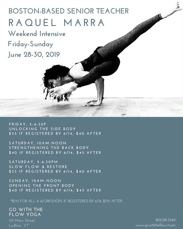 One of our past OMS parents is hosting a Yoga Weekend Intensive at @gowiththeflowvtyoga June 28-30! You can sign up for the entire weekend or just a workshop or two! • • #okemomountainschool #OMS #okemo #okemovalley #winteracademy #snowboarding #skiing #freestyle #alpine #winter  #vermont #skivermont #studentathletes #supportus #supportourschool #yoga #yogaclass #stretchandunwind #fitness #beactive