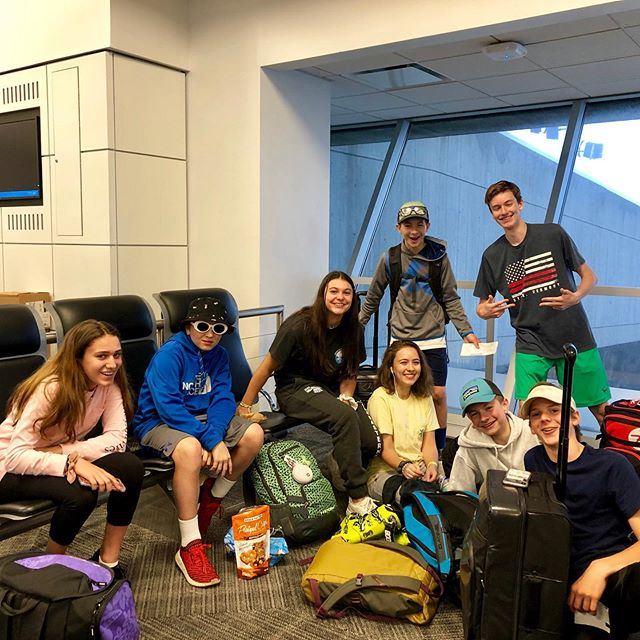 JFK ✈️ PDX contingent of the OMS Mount Hood Ski and Ride Camp, ready to take off bright and early this morning! • • #okemomountainschool #OMS #okemo #okemovalley #winteracademy #snowboarding #skiing #freestyle #alpine #winter #fundraiser #vermont #skivermont #studentathletes #supportus #supportourschool #vermont #raisedvt #summer #summercamp #adventurecamp #getoutside #getoutdoors #adventure #mounthood