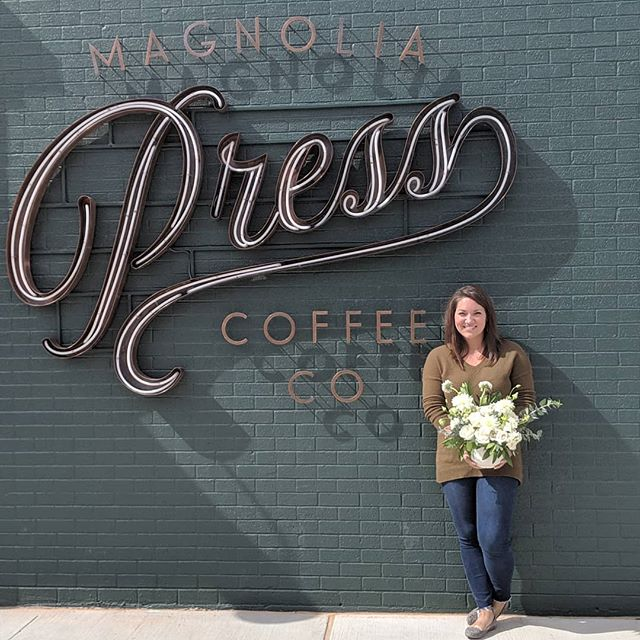 "Today was a great day to ""silobrate"" - cooler weather, fun shopping, great coffee + florals galore! We were blessed to create floral arrangements for the green rooms this weekend, as well as the new Magnolia Press! If you are out + about this weekend, be sure to enjoy all that Waco has to offer! It's an inspiring place to live! . . . . . @magnolia @magnoliapress @magnoliatable #silobration2019 #silobration #magnoliamarket #thesilosbakingco #wacotexas @wacotxhot @thebookofbeautifulweddings #laurelandfinch #weddingflorist #eventflorist #texasflorist #texasweddings #wacotown #bewild #befree #becreative"