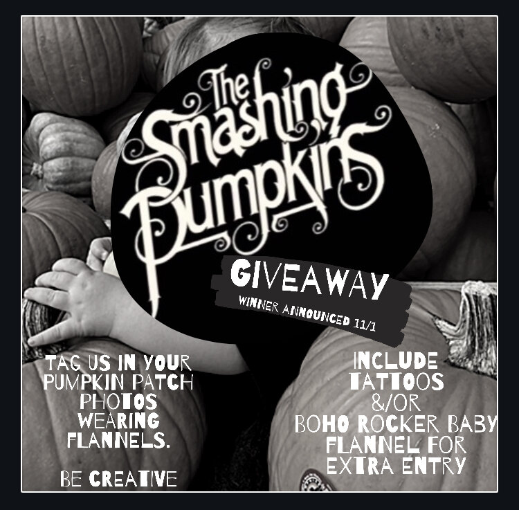 Damn you October! You hella snuck up on our ass!!   Check out this October Giveaway!!   All you gotta do is tag us in your pumpkin patch photos wearing flannels!!