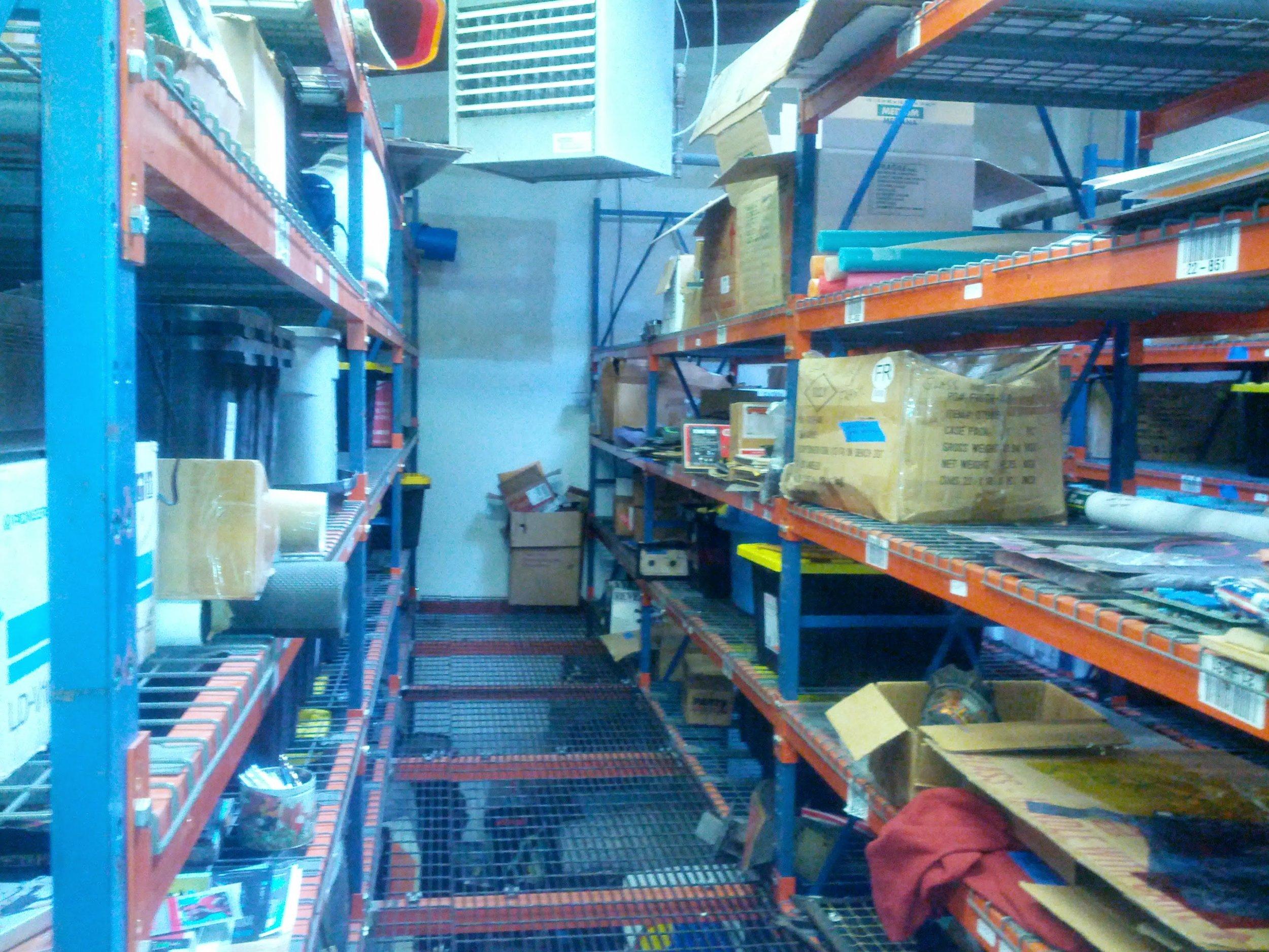 Older warehouse, pre-forklift