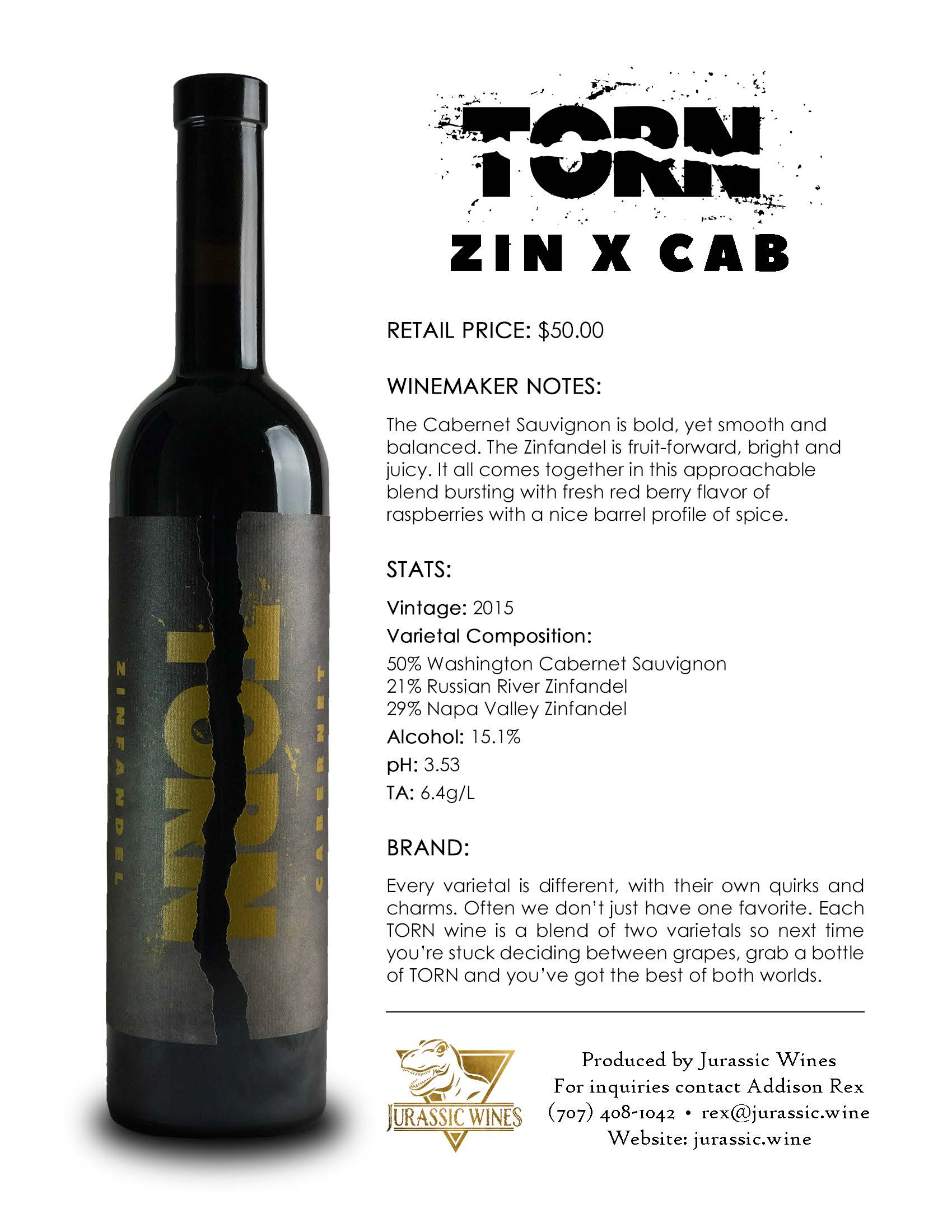TORN ZIN X CAB - Tech Sheet