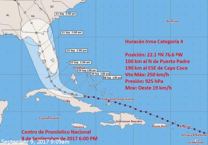 Irma continues to pose a threat to Cuba