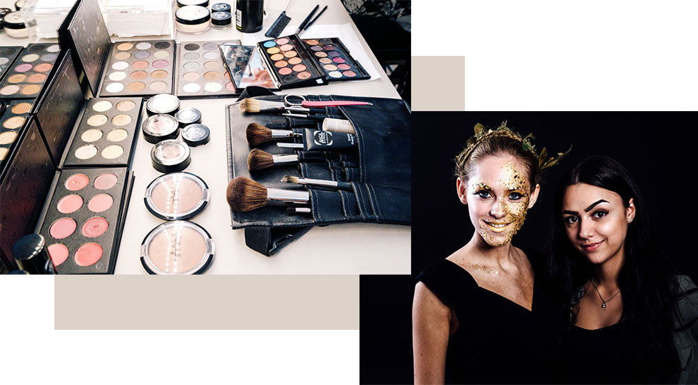 Vorteile: Make-up Grundausstattung, Shootings uvm.