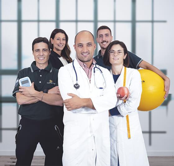 3 professionisti della salute - Un programma studiato su misura da 3 esperti in Dietologia e Medical Fitness.