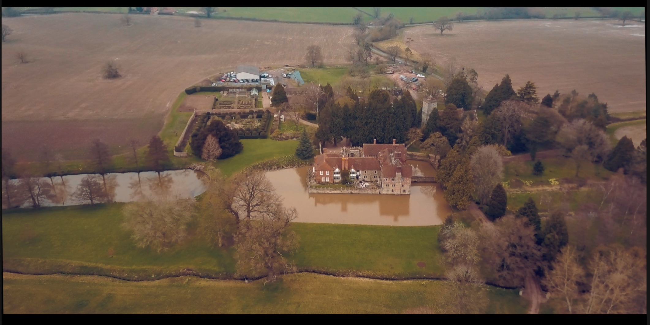 A view from our drone of Britsmorton Court
