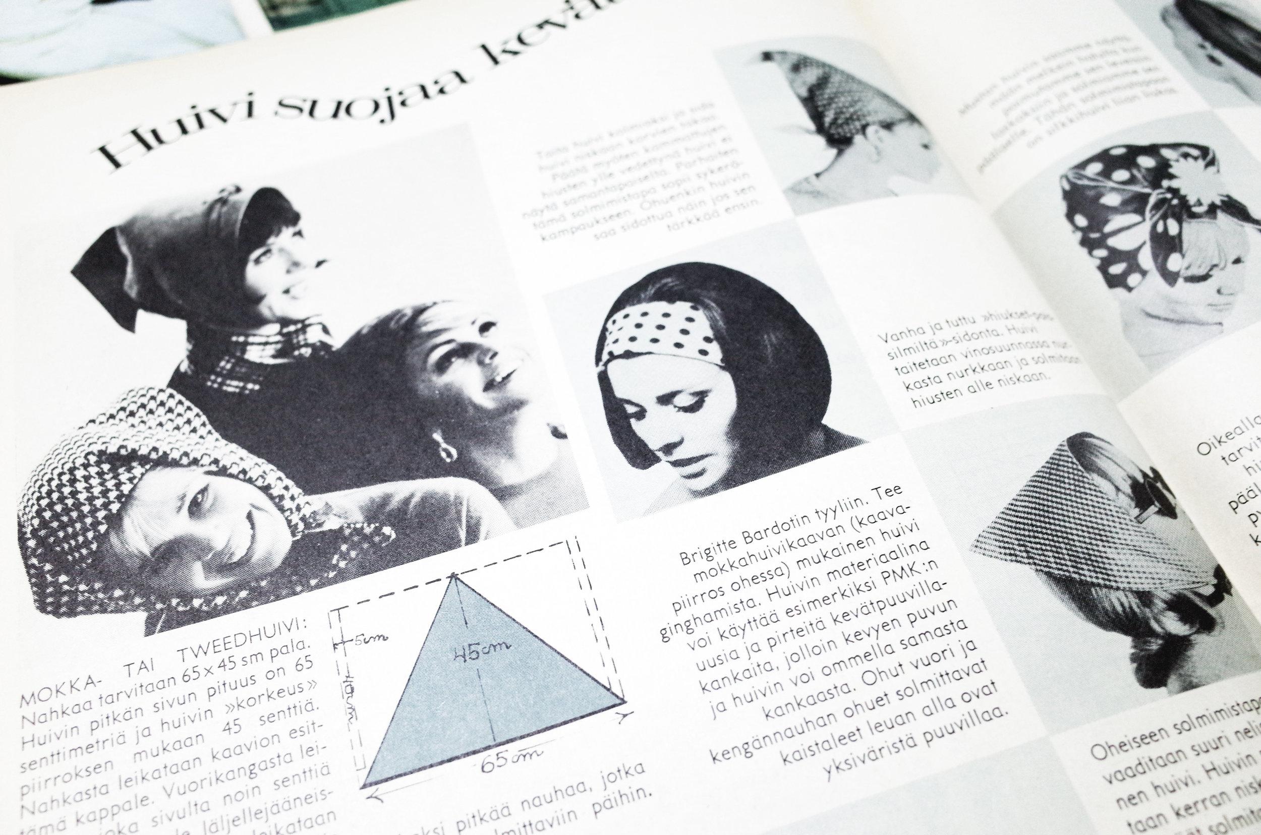 3 ME NAISET (1964) - 這本是60 年代出版的生活時尚雜誌。觀察以前的女性穿衣風格和廣告設計,我們可以了解到當時北歐人們的生活方式和進程。古書店的店主把它保存得原好,我特別佩服北歐VINTAGE 店的專門和講究,有些店甚至將衣服的年期分類,對我來說簡直是天堂。