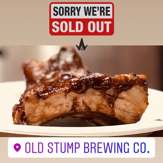 We are sold out of ribs guys!! We still have our delicious pupusas!!! Come on down to @oldstumpbrewery it's an amazing night here. There's a awesome band called ColdShot!! It's still early. Come on down and have some Pupusas and great craft beer. . . . . . . #babycomebackribsandpupusas #pupusas #pupusassalvadoreñas #yum #pomona #oldstumpbrewery #friday #night