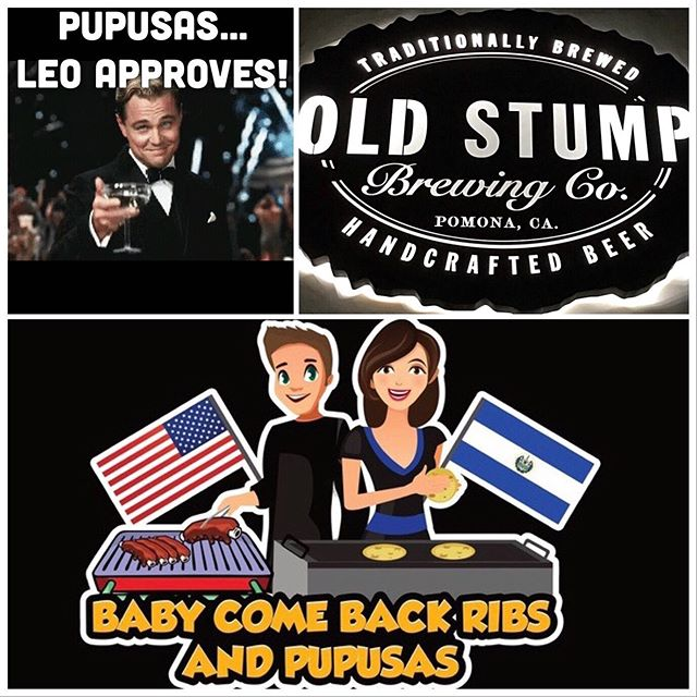 Leonardo DiCaprio is a PUPUSA LOVER.... are you?? Are you looking for the best Pupusas in all of Southern California... look no further! We know that is a very BOLD statement to make but once you put one of our pupusas in your mouth, you'll immediately taste....the QUALITY.....the DELICIOUSNESS... the DIFFERENCE! They will have you yearning for more.... come on out to Old Stump Brewery today in Pomona and you be the judge. We bet you will agree and will become a PUPUSA LOVER yourself! #babycomebackribsandpupusas #pupusas #pupusalover #leonardodicaprio #yearning #hothothot #foodporn #yummy #pomona #beer #craftbeer #oldstumpbrewery #today #wednesday #wednesdaynight #greatfood #sexy #food