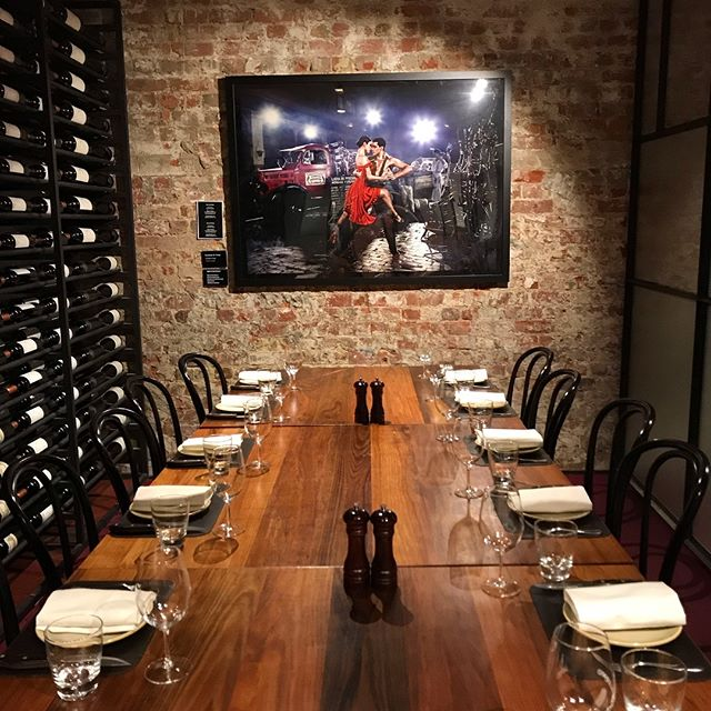 Enredado en tango featuring the gorgeous Violetta and Jordan in its new home at the head of the table @palermomelbourne #palermo #tango #tangodancers #diningroomdecor #melbourneartists @gerardandmarc @gerardphotophoto @marcwasiakstylist @violetabraumugica @jordysaisi