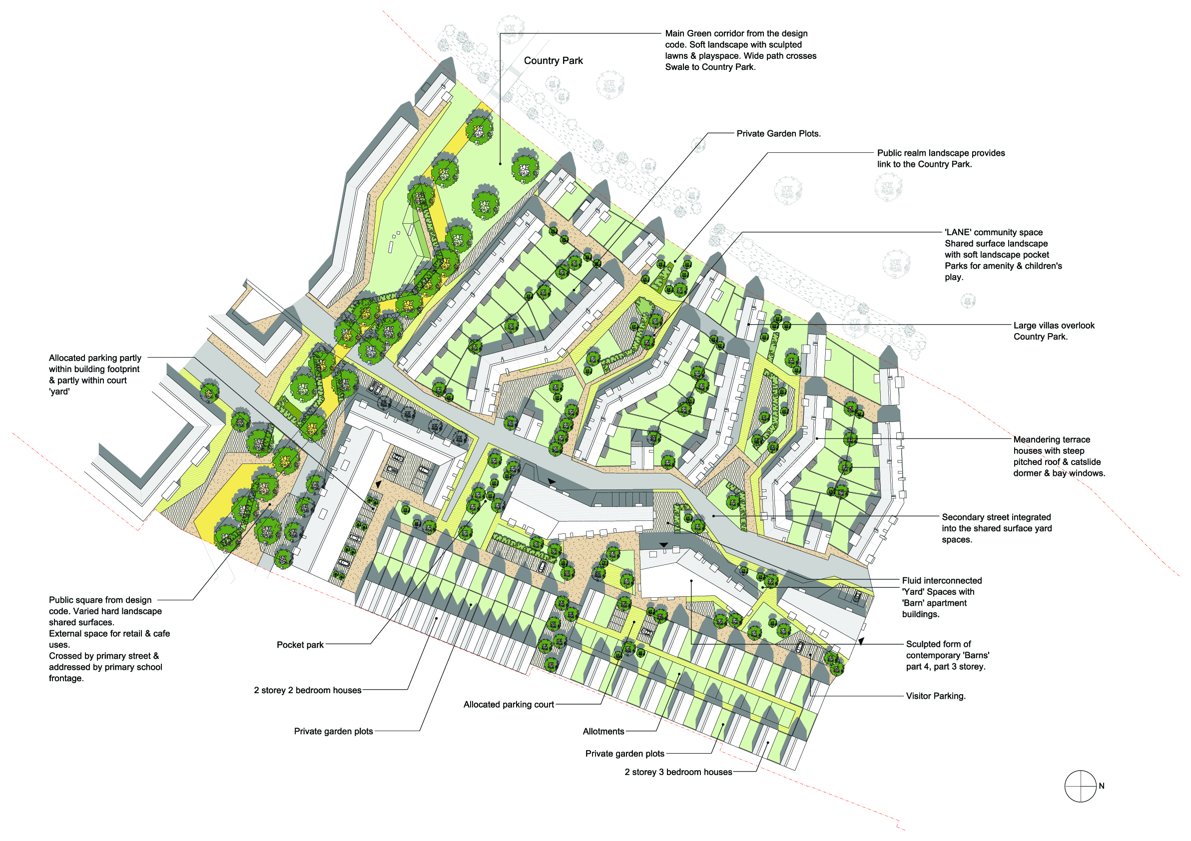 First phase site plan