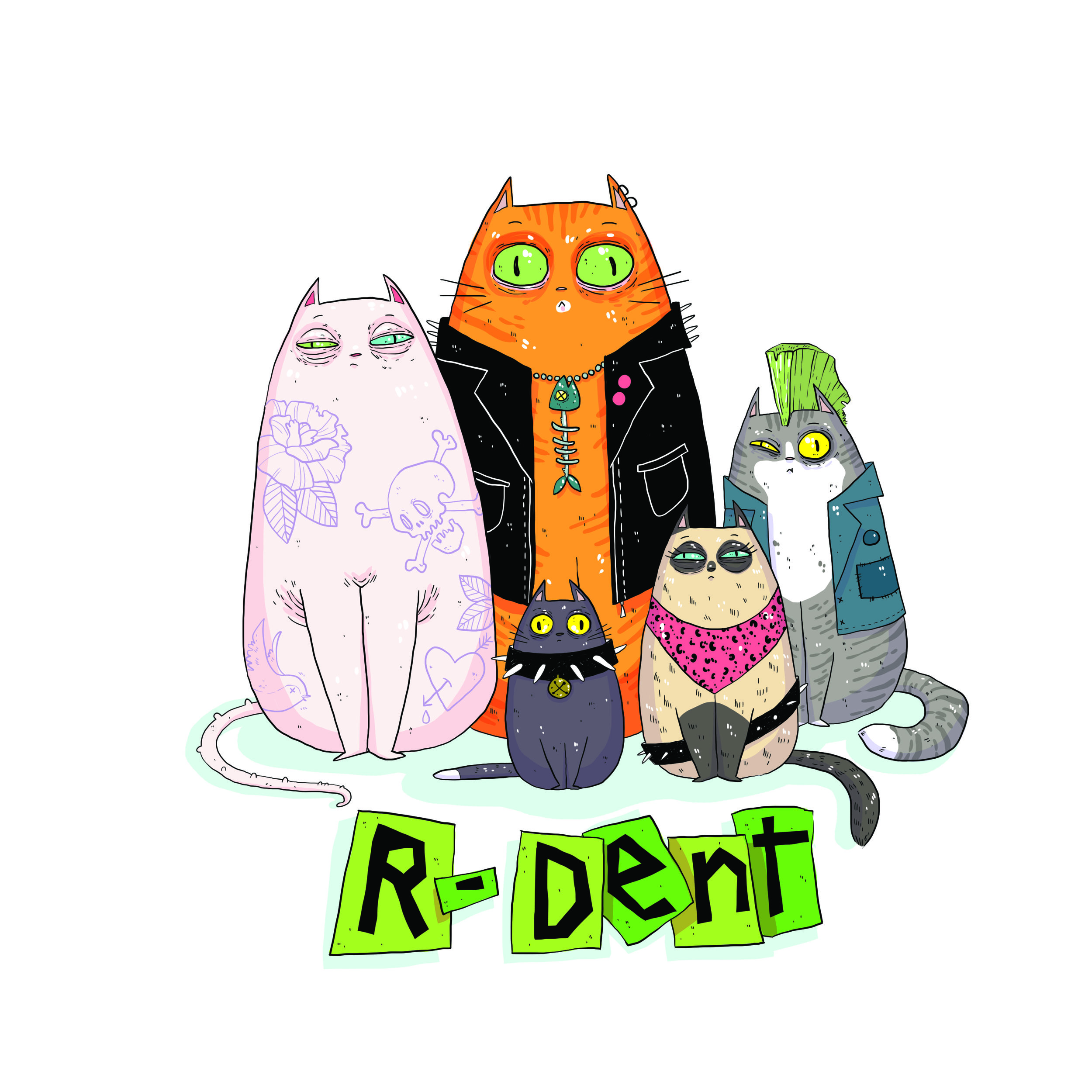 R-Dent Punky Cats