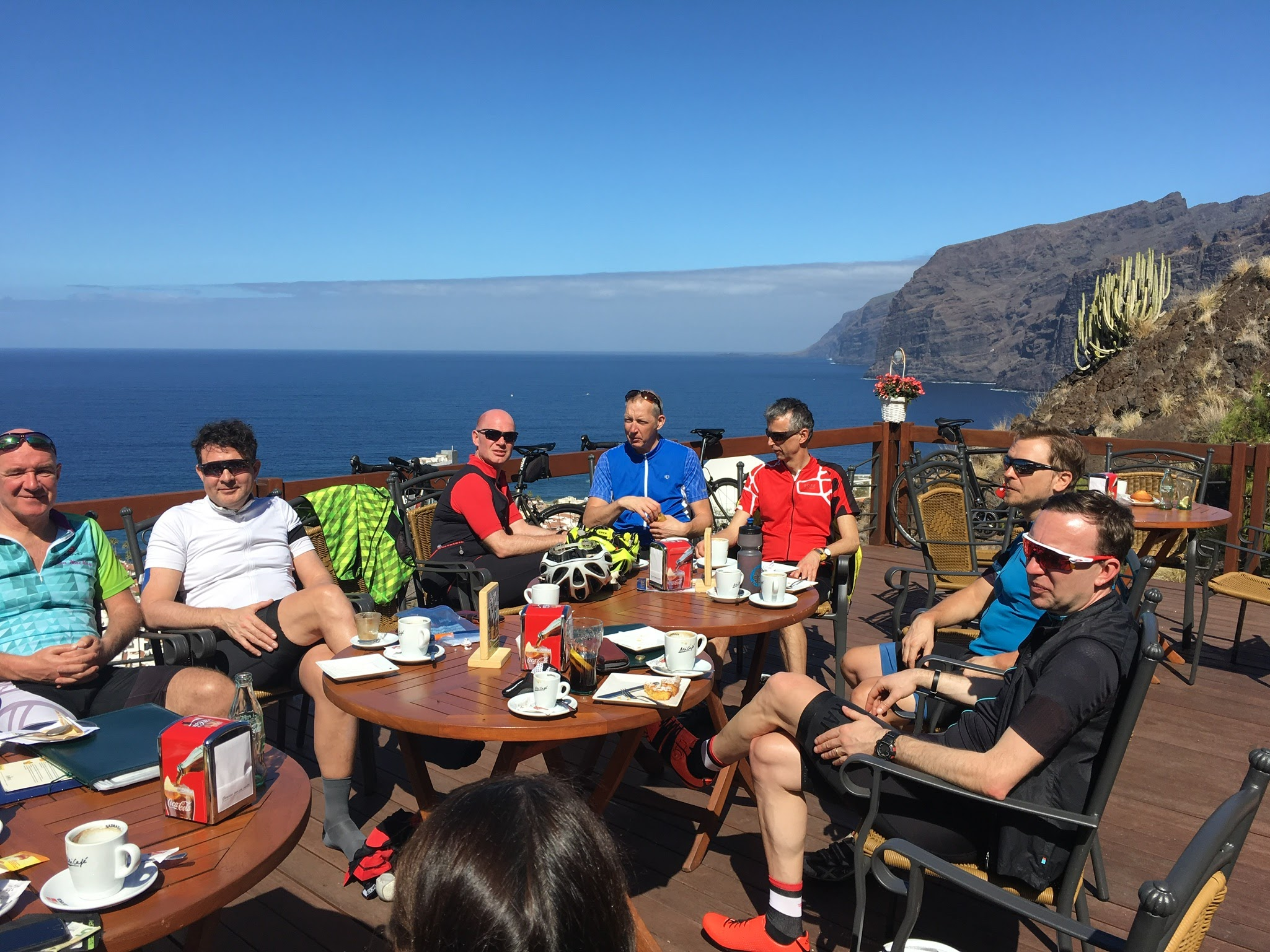 Cycling cafe stop in tenerife