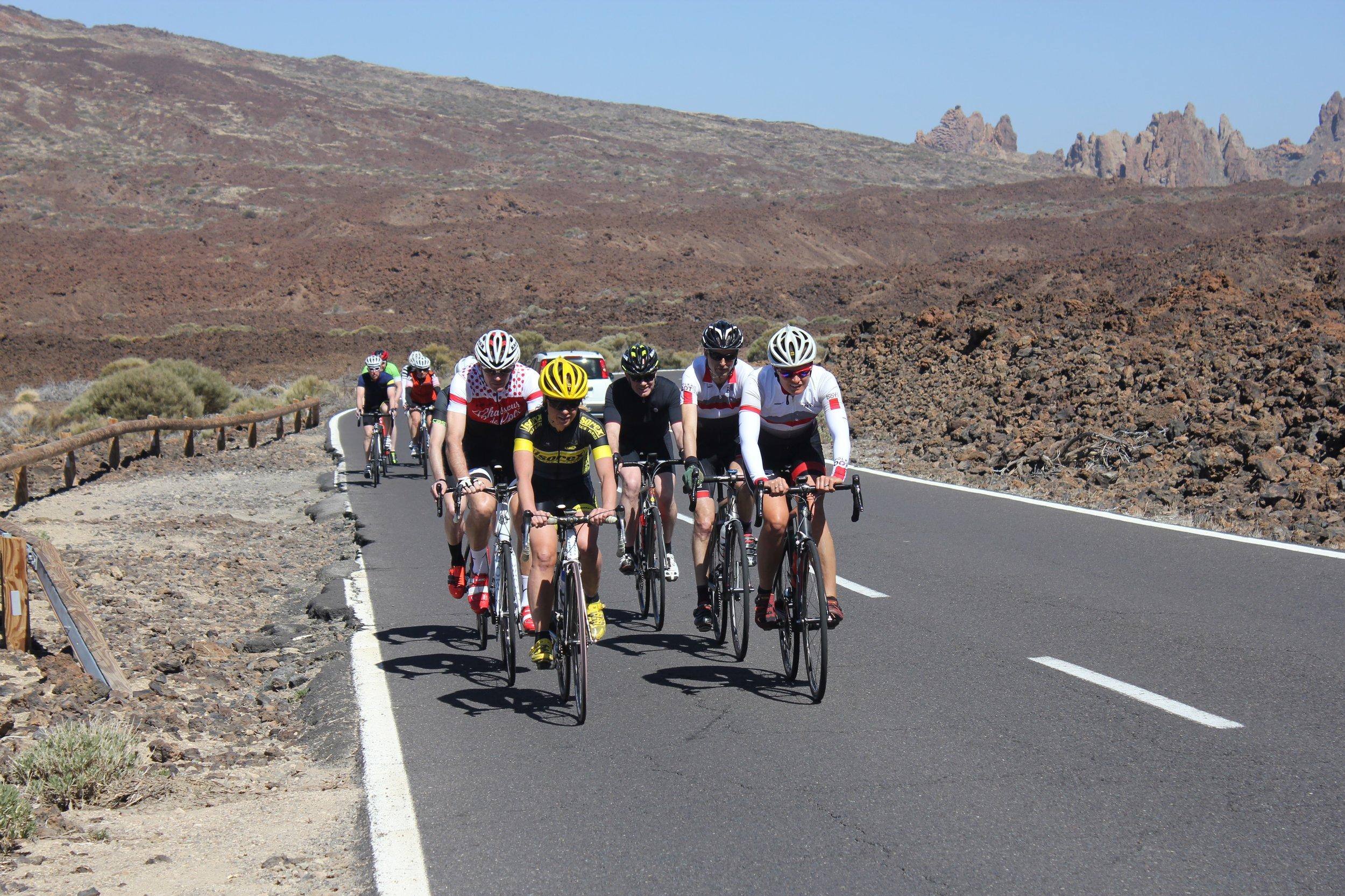 Cycling across Teide